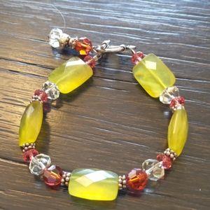 "Jewelry - Beaded Bracelet -Approx 7 1/2"" L"